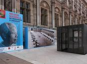 cellule Mandela exposée devant l'Hôtel Ville