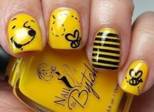 photo nail art winnie l ourson