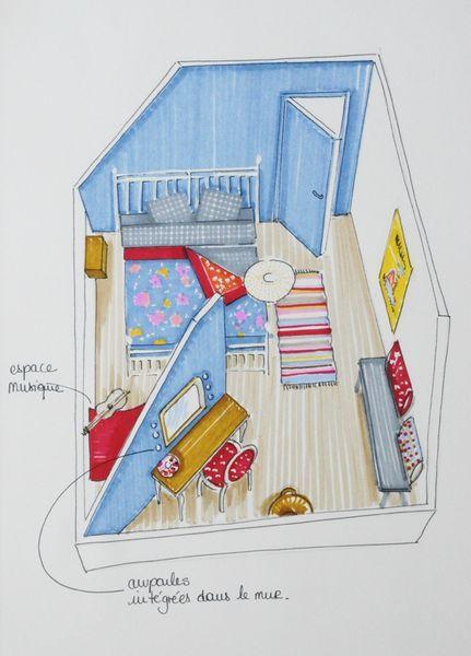 chambre d 39 adolescente d couvrir. Black Bedroom Furniture Sets. Home Design Ideas