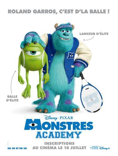 Affiche Monstres Academy Roland Garros