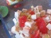 Salade d'endives, pamplemousse billes fromage