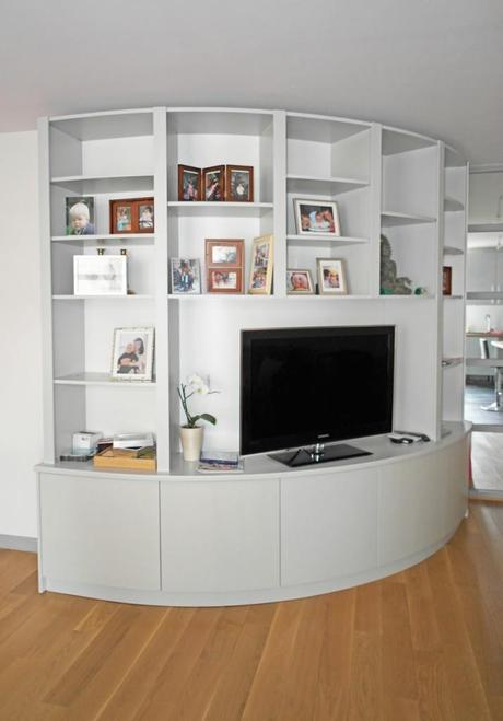Biblioth que arrondie pour salon design paperblog - Bibliotheque de salon design ...