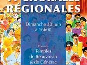 Rencontre chorales régionales dans Gard Beauvoisin Générac aquarelle choristes