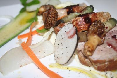 Filet mignon bacon et ses petits légumes