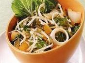 Salade légumes, chou chinois pousses bambou