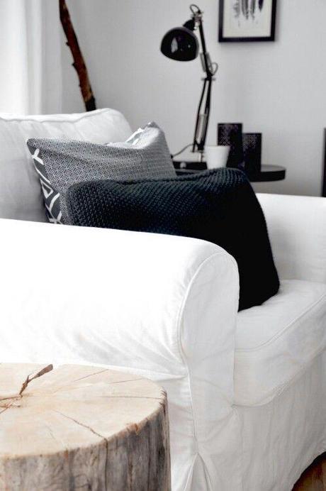 astuces d co housses de canap pour style scandinave cozy voir. Black Bedroom Furniture Sets. Home Design Ideas
