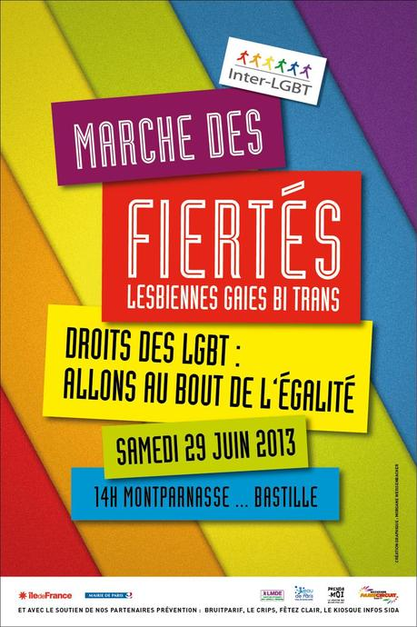 Affiche Gay Pride Paris 2013