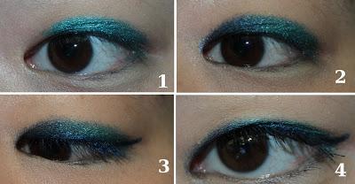 mon maquillage bleu vert avec la palette 15th anniversary paperblog. Black Bedroom Furniture Sets. Home Design Ideas
