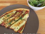 Pizza courgettes grillées