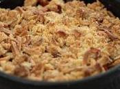 Crumble croustillant l'abricot flocons d'avoine amandes
