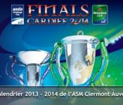 HCUP 2013 2014 calendrier l'ASM Clermont Auvergne