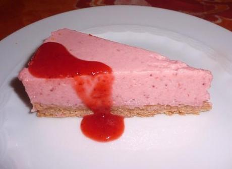 Gateau a la mousse de fraise facile
