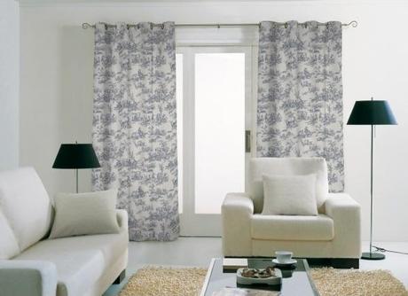 tendance d co le grand retour de la toile de jouy. Black Bedroom Furniture Sets. Home Design Ideas