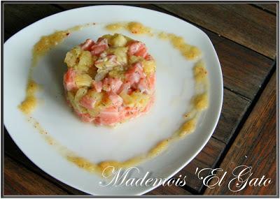Tartare saumon ananas pour fêter l'apparition du soleil !