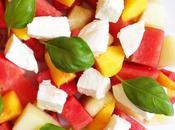 Aujourd'hui, j'ai testé –une salade fruits d'été mozzarella