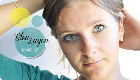 make up bleu lagon sur yeux bleus verts paperblog. Black Bedroom Furniture Sets. Home Design Ideas