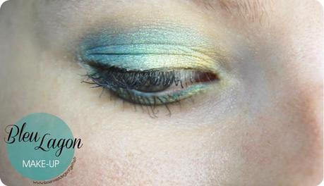Make up bleu lagon sur yeux bleus verts paperblog - Make up yeux bleu ...