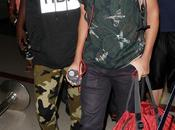 Rihanna frère Rajad l'Aéroport Angeles 27.08.2013