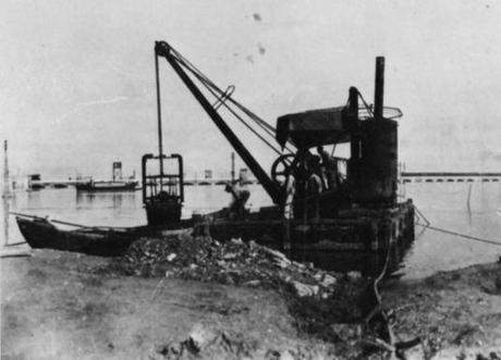 Travaux sur l'aqueduc de Murano