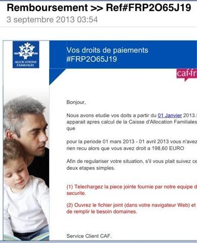 La Caf Emailing Fr