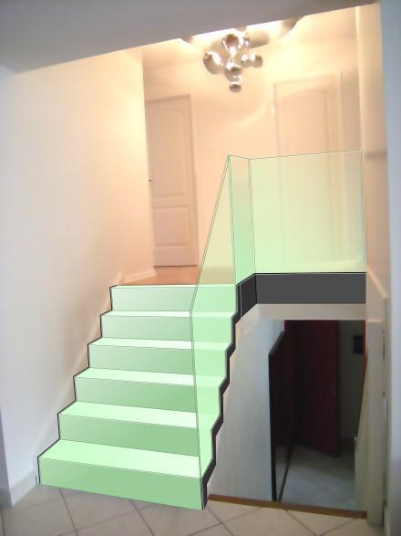 cristal diaphane de l escalier design en verre d couvrir. Black Bedroom Furniture Sets. Home Design Ideas