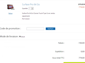 Plan 100€ réduction Surface Pro,