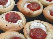 Petits fours Mini tartelettes tomates cerises chèvre