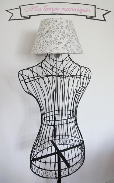 mon diy une lampe dans mon buste de mannequin lire. Black Bedroom Furniture Sets. Home Design Ideas