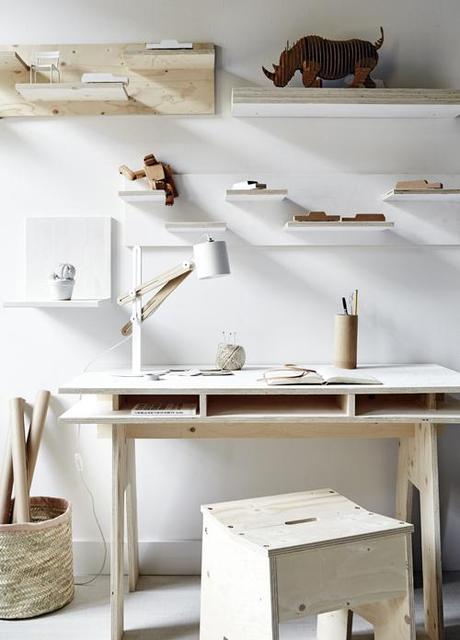 Bureau Bois Pas Cher : Fabriquer un bureau design et pas cher tout en bois ! – Paperblog