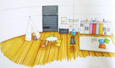 salle de jeux avant apr s paperblog. Black Bedroom Furniture Sets. Home Design Ideas