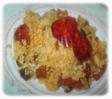 recette du mercredi risotto champignon chorizo. Black Bedroom Furniture Sets. Home Design Ideas