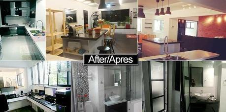 avant apr s notre r novation de condo singapour paperblog. Black Bedroom Furniture Sets. Home Design Ideas