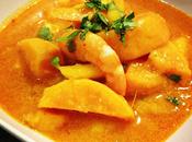 Curry rouge mangue crevettes