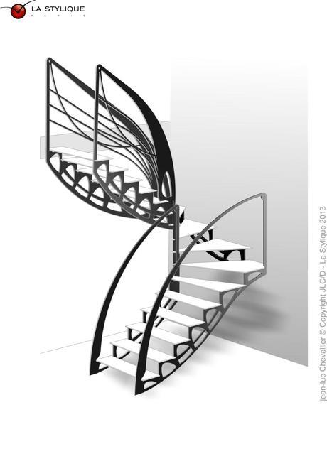 quand le mobilier et l escalier design s invitent dans le loft paperblog. Black Bedroom Furniture Sets. Home Design Ideas