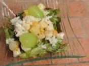 Salade noix Jacques, crabe fruits