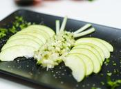 PAPILLON ACIDULE CHEZ FISKARS (pomme granny, fenouil, coriandre)