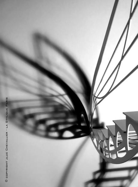 l escalier design et l envol du papillon paperblog. Black Bedroom Furniture Sets. Home Design Ideas