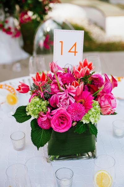 Mariage blanc fushia orange et vert faire soi m me for Decoration maison fushia