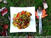 Tagliatelle Agli Spinaci Légumes Grillés Graines Citrouille