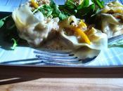 Raviolis farcis canard confit sauce l'orange