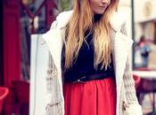 jupe rouge évasée