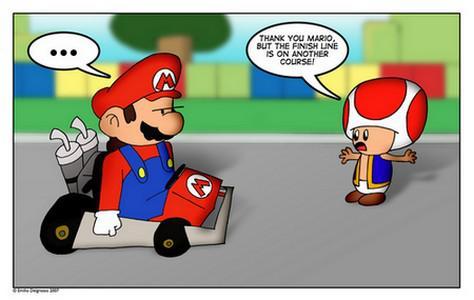 Connaître les moindres recoins des circuits dans Mario Kart Wii est