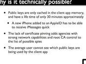 Apple iMessage, sécurisé? Oui, mais non…