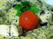 Risotto pâtes champignons poulet