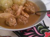 Ragoût boulettes poulet farine grillée