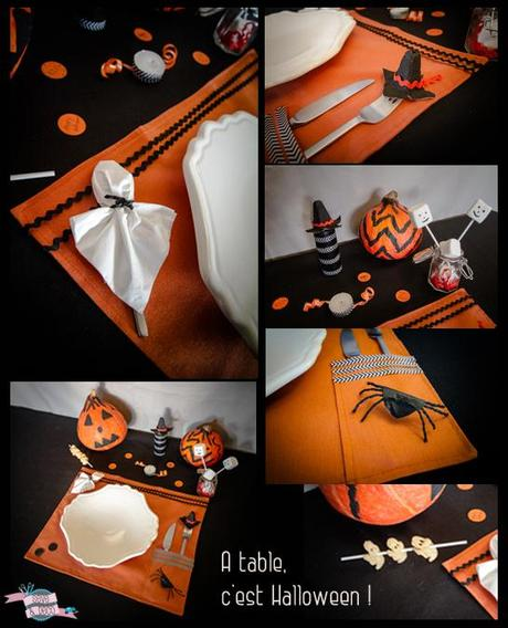 mon diy d co de table pour halloween voir. Black Bedroom Furniture Sets. Home Design Ideas