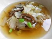 Soupe tous jours chou champignons shiitaké 香菇白菜清汤 xiānggū báicài qīngtāng