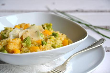risotto de courge butternut et de chou romanesco au cidre paperblog. Black Bedroom Furniture Sets. Home Design Ideas