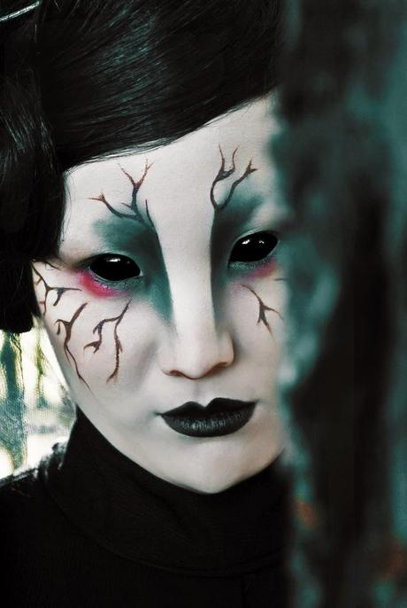 halloween make up, maquillage d'halloween.