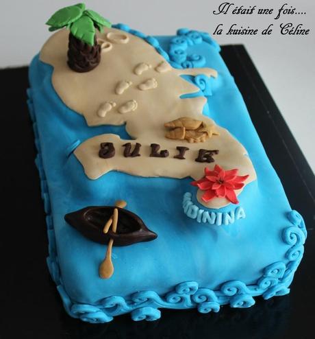 Voici un gâteau sur le thème de la martinique avec la forme de la ...